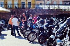 Закрывать 6-ого motoseason ассоциацией одичалого велосипедиста MCC в Украине Ivano-Frankivsk Стоковая Фотография RF