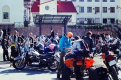 Закрывать 6-ого motoseason ассоциацией одичалого велосипедиста MCC в Украине Ivano-Frankivsk Стоковое Изображение RF