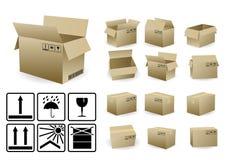 закрынная коробкой открытая перевозка груза комплекта Стоковое Фото