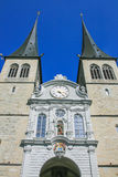 Закрыно вверх церков Люцерн стоковые изображения