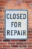 Закрыно для ремонта стоковые фотографии rf