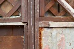 закрытая дверь деревянная Стоковое Фото