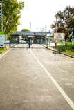 Закрытая граница в Roeszke к Сербии в Венгрии Стоковые Фото
