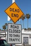 закрытая дорога мертвого конца Стоковая Фотография RF