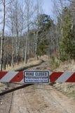 закрытая дорога мертвого конца Стоковые Изображения