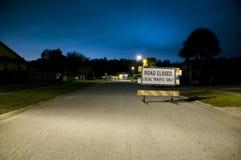 закрытая дорога стоковое изображение