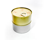 Закрытая жестяная коробка с открытым ключом Стоковое Изображение