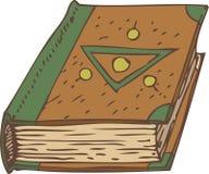 Закрытая книга с зеленым цветом и крышкой Брайна Стоковое Изображение RF