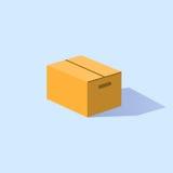 Закрытая коробка сделанная из картона Стоковые Изображения RF