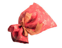 Закрытая красная сумка подарка Стоковые Фото