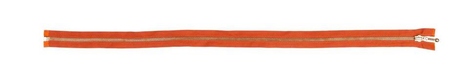 Закрытая оранжевая молния изолированная над белой предпосылкой Стоковая Фотография RF