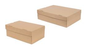 Закрытая доставка 2 картонной коробки Стоковые Фотографии RF