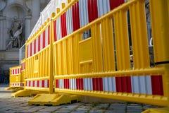 Закрытая улица в Дрездене стоковые изображения