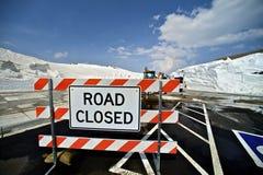 закрытая дорога Стоковая Фотография