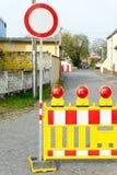 Закрытие дороги стоковые изображения