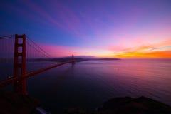 Закрытие январь 2015 моста золотого строба Стоковые Изображения