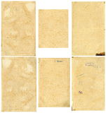 Закрытое безшовное изображение листа старой пожелтетой бумаги с темными коричневыми пятнами, трассировками времени Стоковые Изображения
