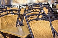 Закрытое кафе тротуара Стоковые Изображения