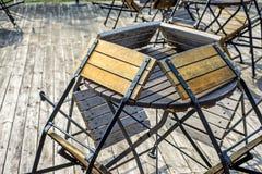 Закрытое кафе улицы Стоковая Фотография RF