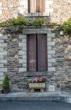 закрытое окно деревянное Стоковая Фотография