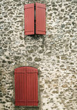 закрытое окно деревянное Стоковые Изображения RF