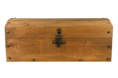 закрытой деревянное изолированное казной старое Стоковая Фотография