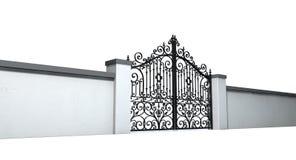 Закрытые богато украшенные стробы и стена бесплатная иллюстрация