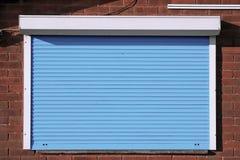 Закрытые голубые штарки безопасностью Стоковые Фото