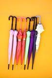 закрытые зонтики Стоковое фото RF
