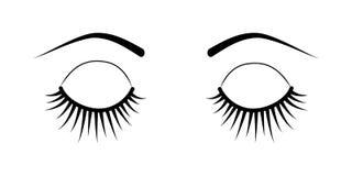 Закрытые расширения ресницы глаз иллюстрация вектора