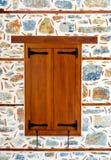 Закрытые штарки окна Woden Стоковые Фотографии RF