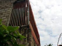 Закрытый балкон стоковая фотография rf