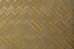 Закрытый вверх бамбуковой текстуры картины Weave корзины Стоковые Фото
