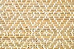 Закрытый вверх бамбуковой текстуры картины Weave корзины Стоковые Изображения RF