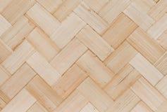 Закрытый вверх бамбуковой текстуры картины Weave корзины Стоковые Фотографии RF
