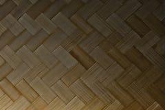 Закрытый вверх бамбуковой текстуры картины Weave корзины Стоковое фото RF