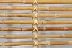Закрытый вверх бамбуковой текстуры плетеной картины Weave Стоковая Фотография