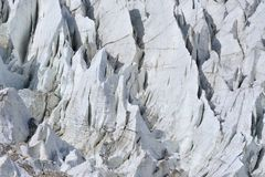 Закрытый вверх ледника Passu Пакистан Стоковое Изображение RF