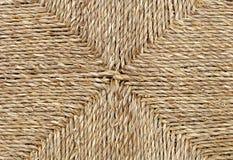 Закрытый вверх квадратной текстуры картины Weave корзины Брайна Стоковая Фотография RF