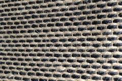 Закрытый вверх квадратной текстуры картины Weave корзины Стоковые Фотографии RF