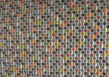 Закрытый вверх квадратной текстуры красочной картины Weave корзины Стоковая Фотография