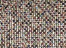 Закрытый вверх квадратной текстуры красочной картины Weave Стоковые Фото
