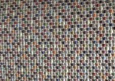 Закрытый вверх квадратной текстуры красочной картины Weave Стоковая Фотография