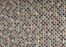 Закрытый вверх квадратной текстуры красочной картины Weave Стоковые Изображения RF