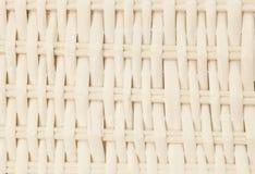 Закрытый вверх квадратной текстуры белой картины Weave корзины Стоковое Изображение