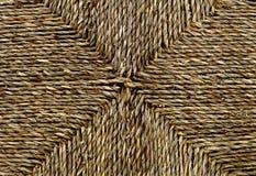 Закрытый вверх квадратной текстуры картины Weave корзины Стоковая Фотография
