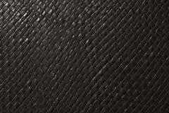 Закрытый вверх квадратной текстуры черной картины Weave корзины Стоковые Изображения RF