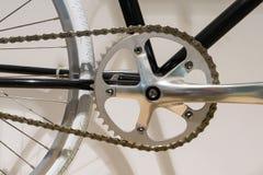 Закрытый вверх колец цепи велосипеда Стоковое Фото