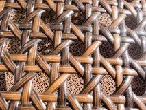 Закрытый вверх по деревянной плетеной предпосылке текстуры Стоковые Фото