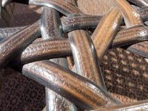 Закрытый вверх по деревянной плетеной предпосылке текстуры Стоковая Фотография